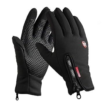 Sport Thermo Handschuhe Winterhandschuhe Anti-Rutsch Fahrradhandschuhe Winddicht und Wasserdicht Handschuhe Ajustable Gr/ö/ße f/ür Damen Herren Kungber Laufhandschuhe