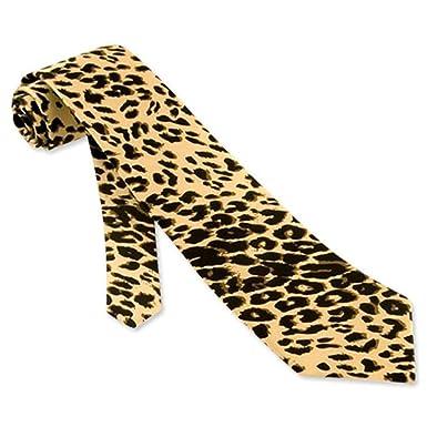 68adaa88165d Image Unavailable. Image not available for. Color: Leopard Silk Tie Necktie  - Men's Animal Print ...