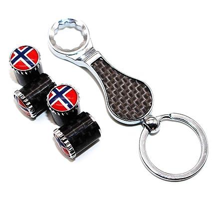 4 Unids Noruega Bandera Nacional Rueda de Coche Neumático ...