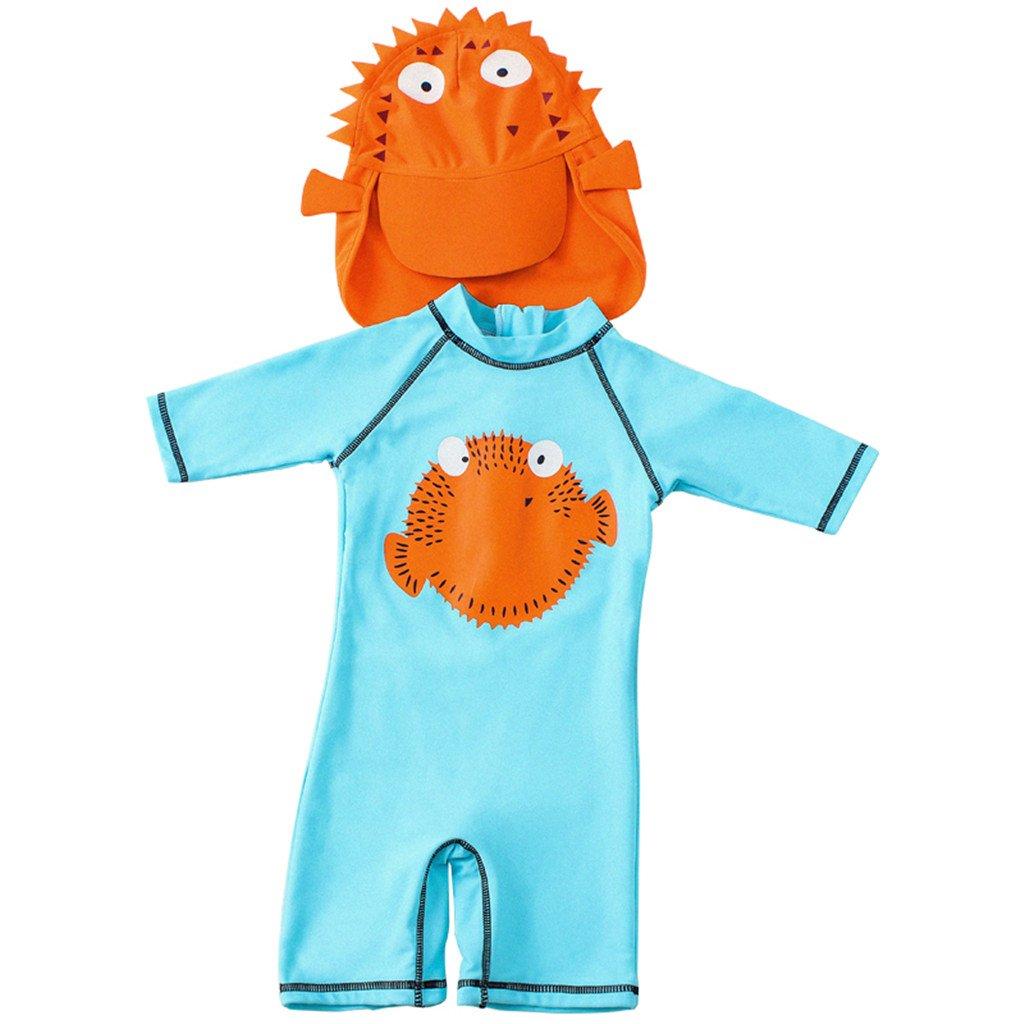 Costumi da Bagno Per Bambini One Piece - Ragazzi Costume da Bagno Ragazze Con Cap Manica Corta Babys I Neonati Cartone Animato Carino