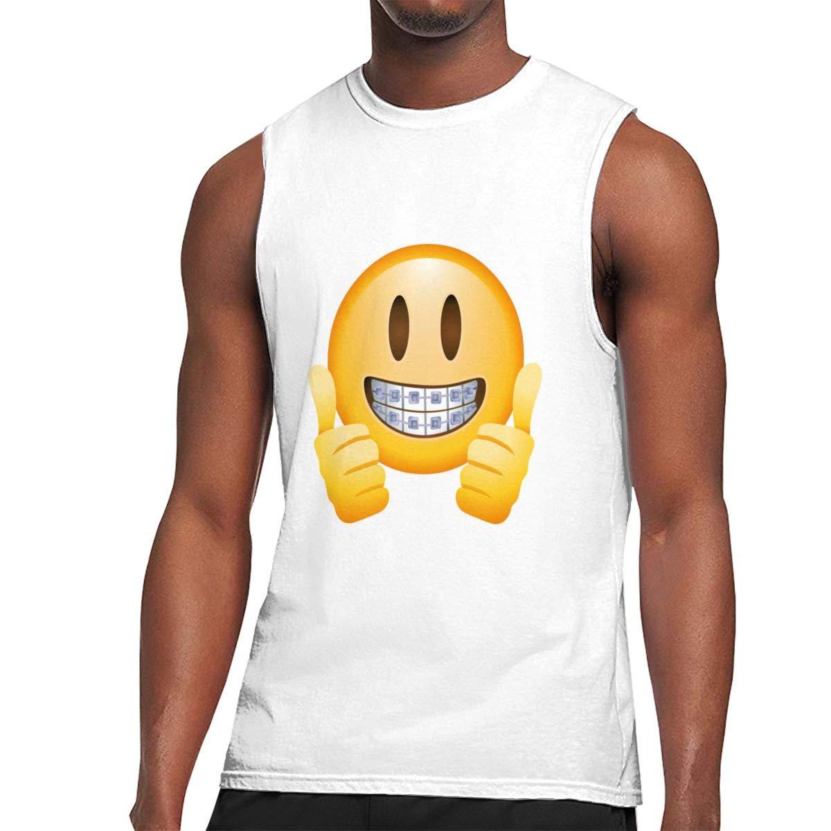 Seuriamin Thumbs Up Emoji Ultra Soft Tennis Sleeveless Muscle Short Sleeve Ts Shirts