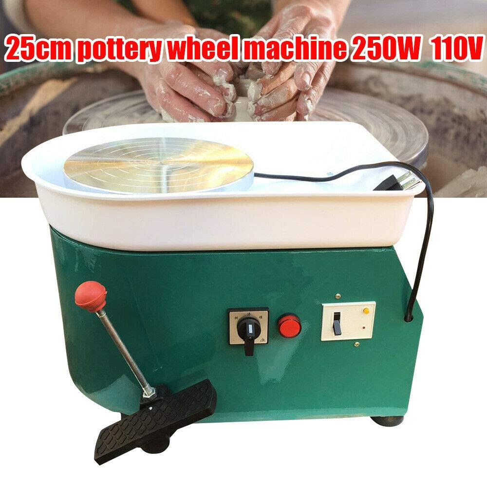 WUPYI Electric Pottery Wheel Machine,220V 250W Pottery Forming Machine Pottery Wheel Ceramic Machine for Ceramic Work Ceramics Clay Green