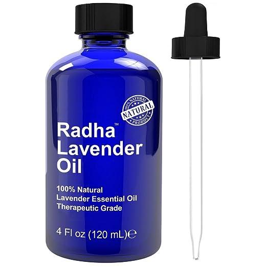 Radha Beauty Lavender Essential Oil Therapeutic Grade - 4 oz.