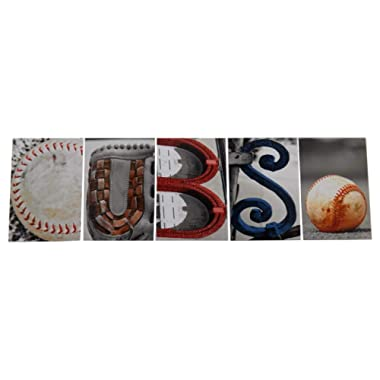 Cubs Photograph Word Letter Art Alphabet Creative Home Decor Office Gift Present 4 X 6 Professional Pictures for Display Real Objects as Words Baseball Glove Mitt Sports Frame Not Included U Frame It