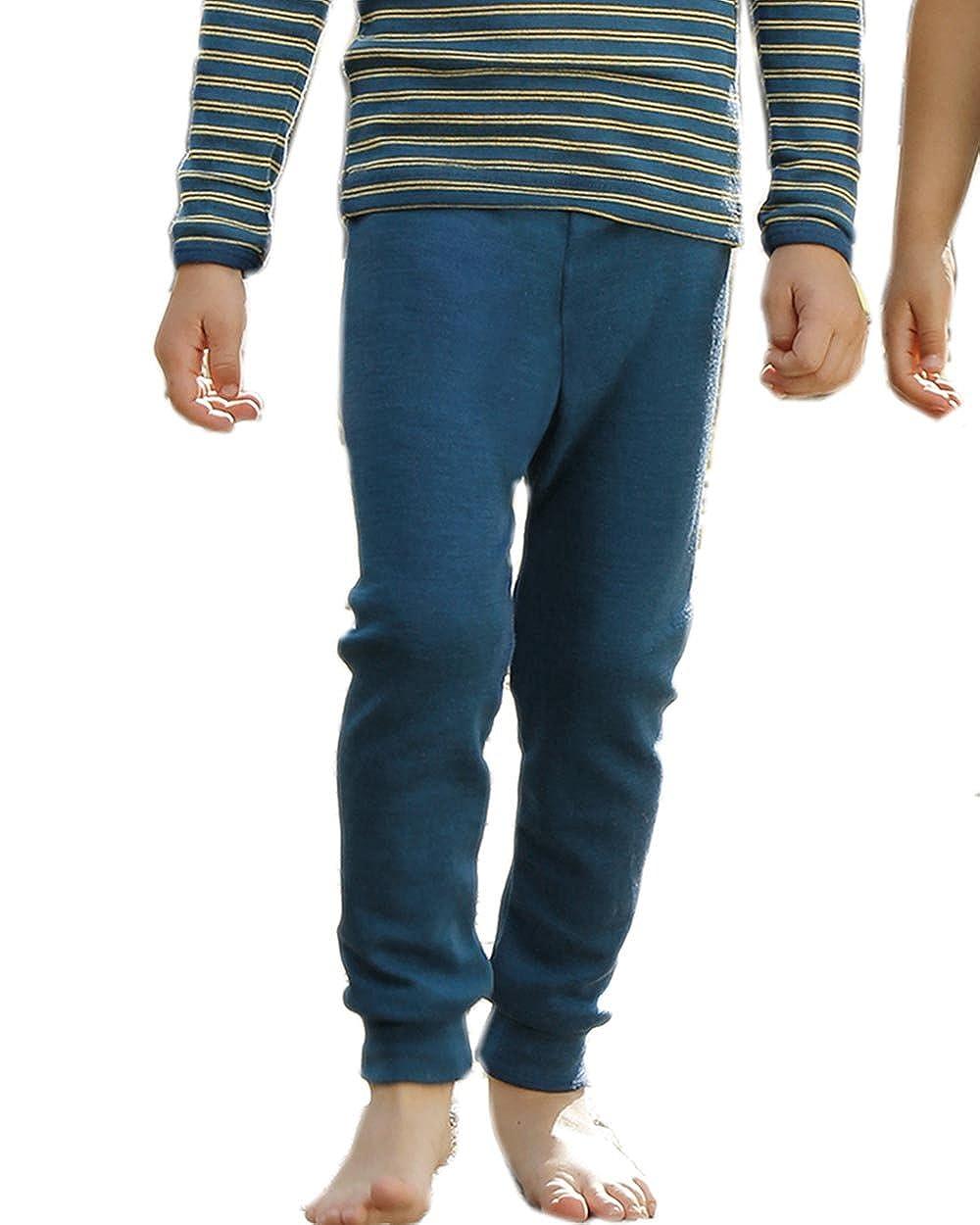 92-176 100/% Schurwolle extrafein Kinder Unterhose lang Gr