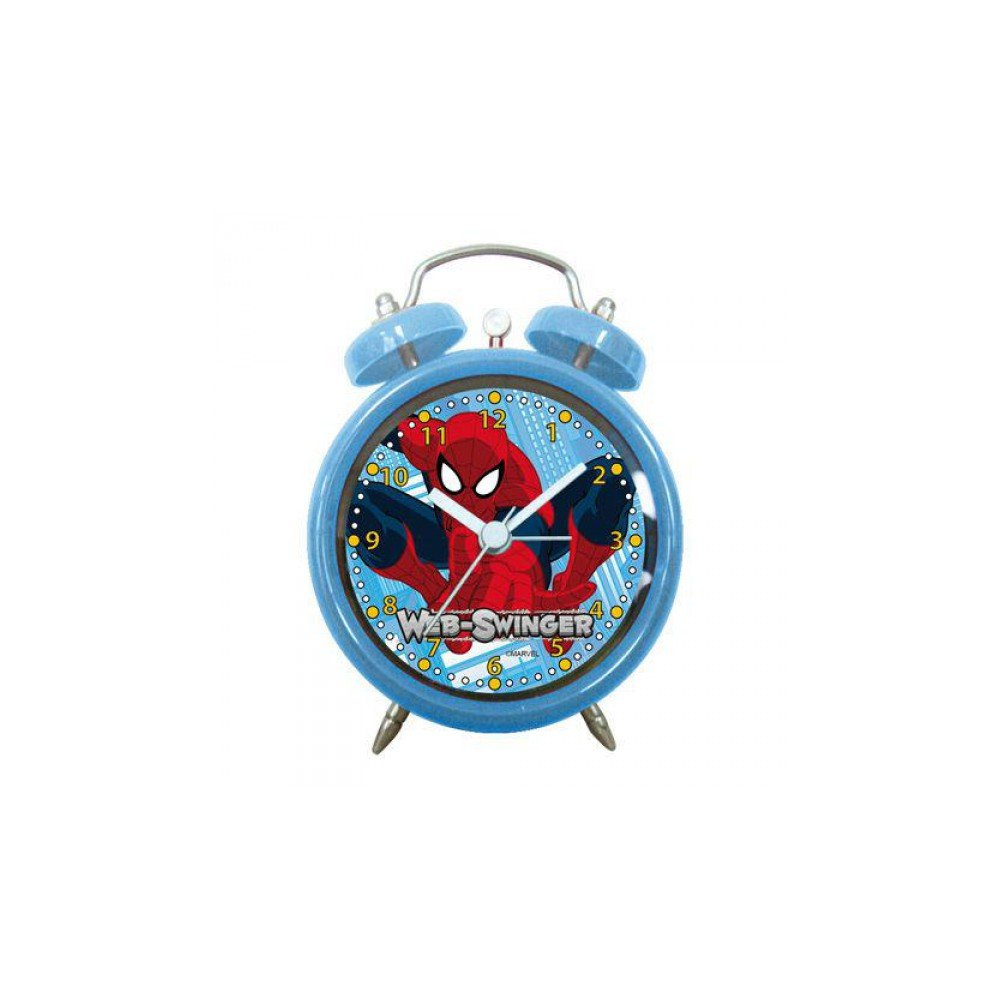 Arditex sm8706 Alarm Clock Round Bells, Design Spiderman