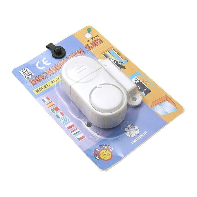 Amazon.com : eDealMax inalámbrica Ventana de la puerta Alarma magnética de entrada de seguridad Seguridad Blanca : Camera & Photo