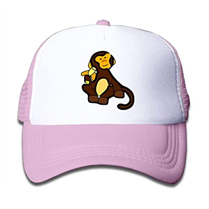 d43876f05bf Amazon.com   Michael Rong Monkey Clipart On Boys and Girls Trucker ...