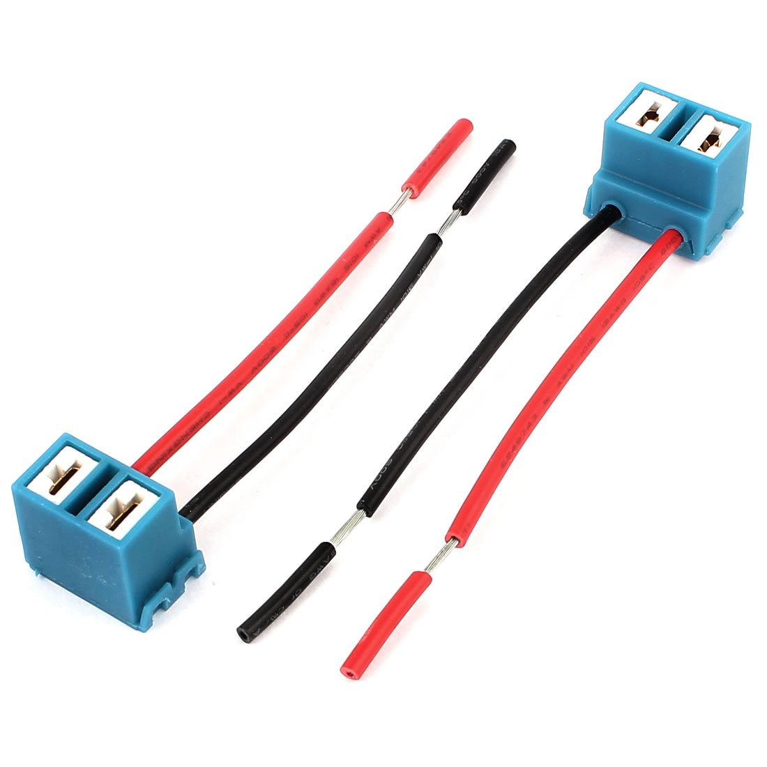 sourcingmap H7 Headlight Wiring Harness Socket Connector 2pcs ...