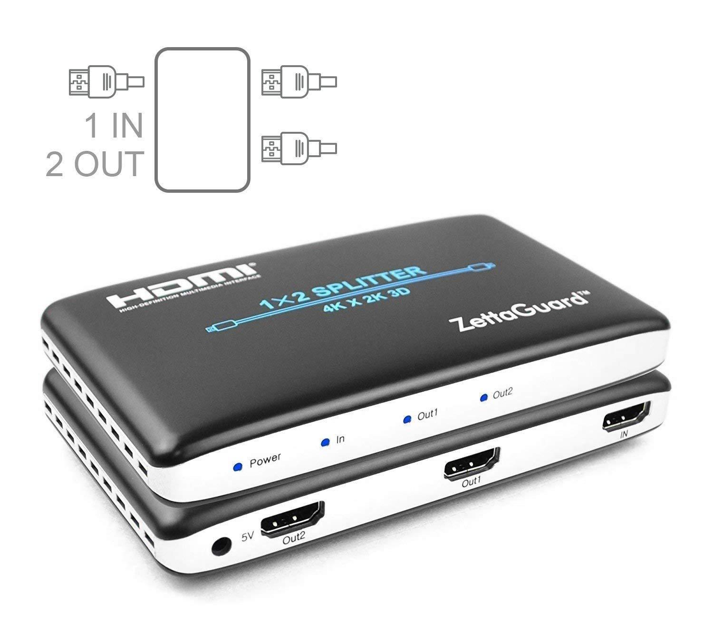 Zettaguard 4K x 2K 4 Port 4 x 1 HDMI Switch with PIP and IR Wireless Remote Control (ZW410)