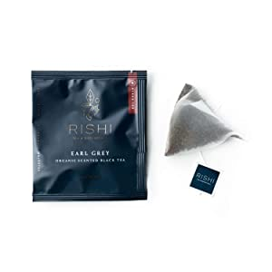 Rishi Tea Earl Grey Herbal Tea | Immune Support, USDA Certified Organic, Fair Trade Black Tea, Caffeinated, Citrus Flavors for Taste | 50 Sachet Tea Bags