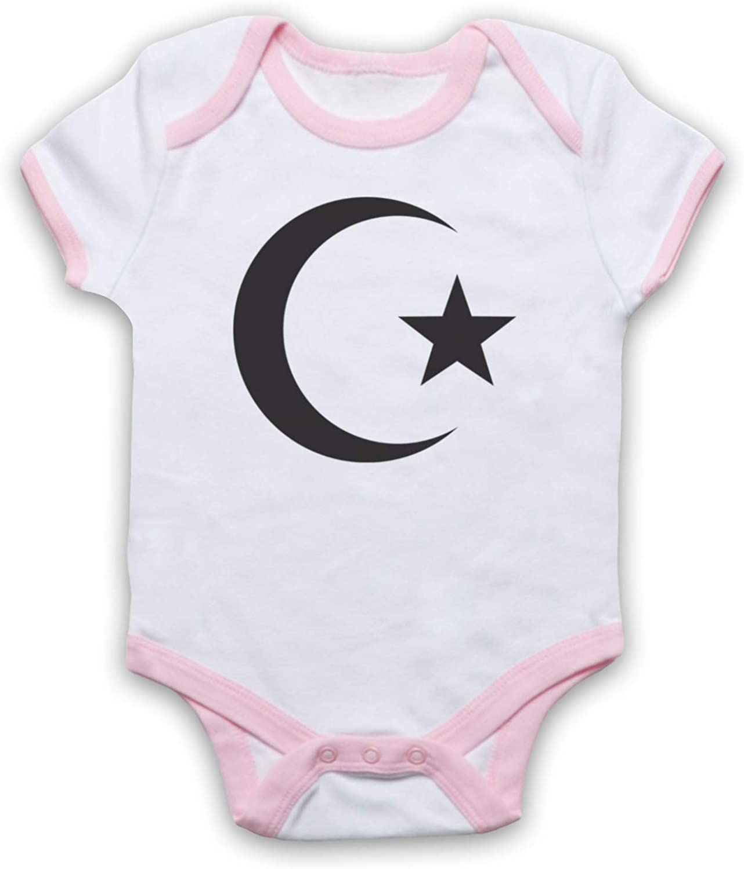 My Icon Unisex-Babys Star /& Crescent Ancient Symbol Baby Grow
