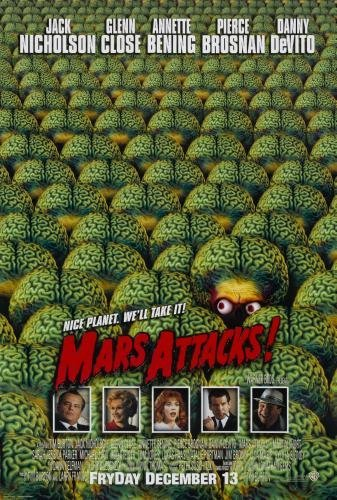 Mars Attacks Movie Poster 24in ()
