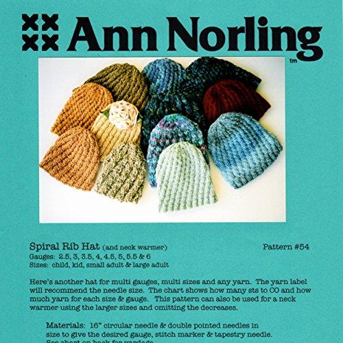 (Ann Norling Pattern #54 Spiral Rib Hat)