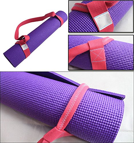 Solstice Yoga Mat Sling Strap made with Adjustable, Best, Durable Cotton (Blue)