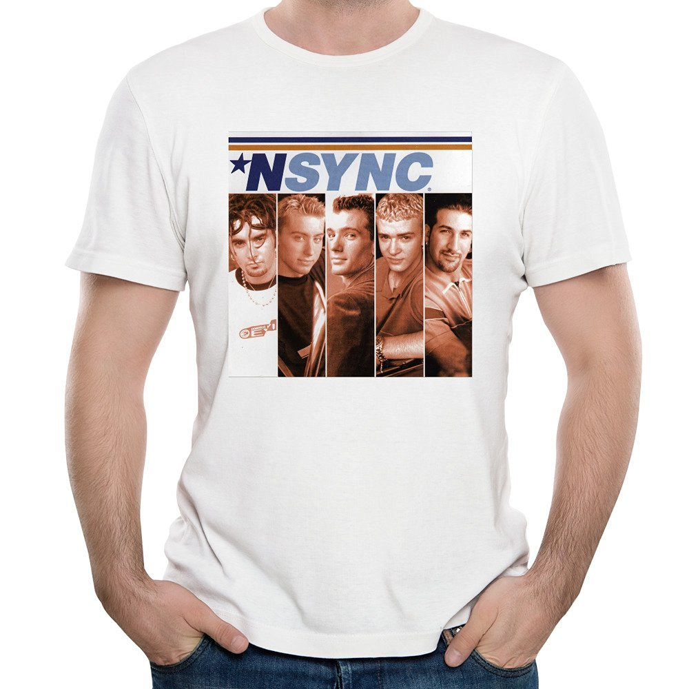 Belowty Men Cotton NSYNC Logo Fashion Music Posters T-shirt Short ...