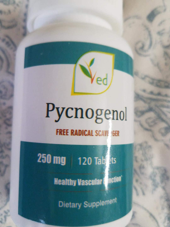 Pycnogenol 250mg 120 Tablets Antioxidants Natural and Organic