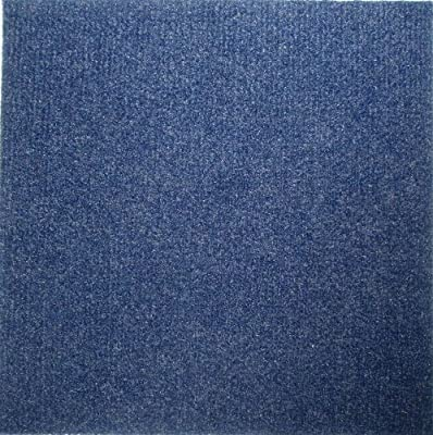 Carpet Tiles Peel and Stick Blue 12 Inch 36 Square Feet