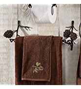 BLACK FOREST DECOR Pine Bough Towel Bar