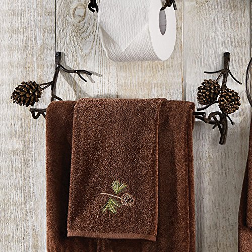 Black Forest Decor Pine Bough Rustic (Cabin Towel Bar)