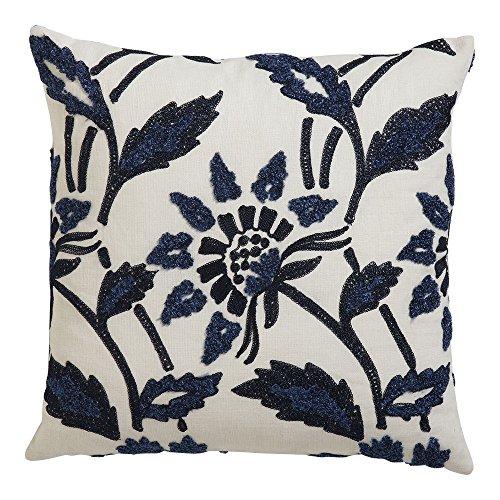 Ethan Allen Bouclé Linen Pillow, Navy