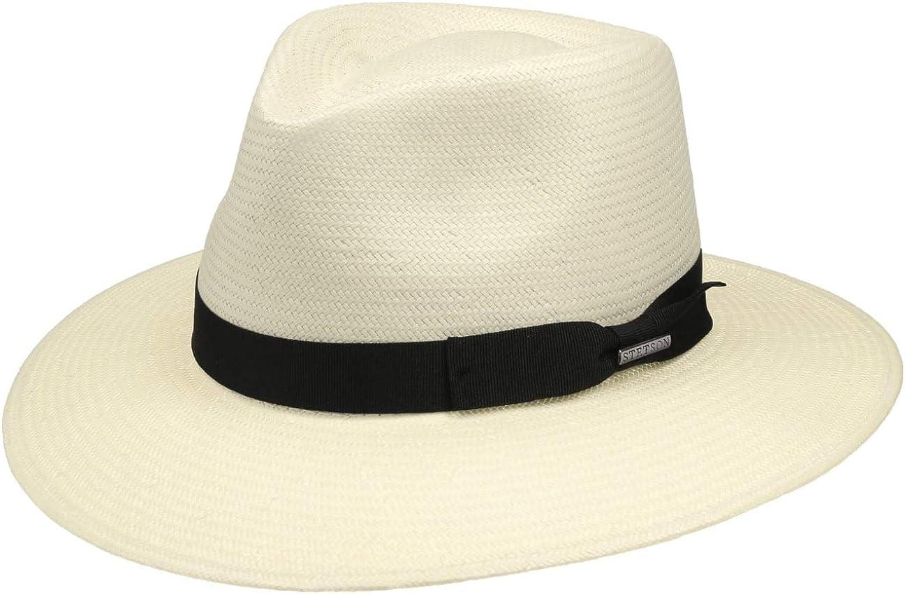 Stetson Cantalo Diamond Raffia Hat Men Sun Summer Beach with Grosgrain Band Spring-Summer