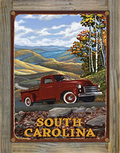 Northwest Art Mall South Carolina Rustic Metal Print on Reclaimed Barn Wood by Paul A. Lanquist (9
