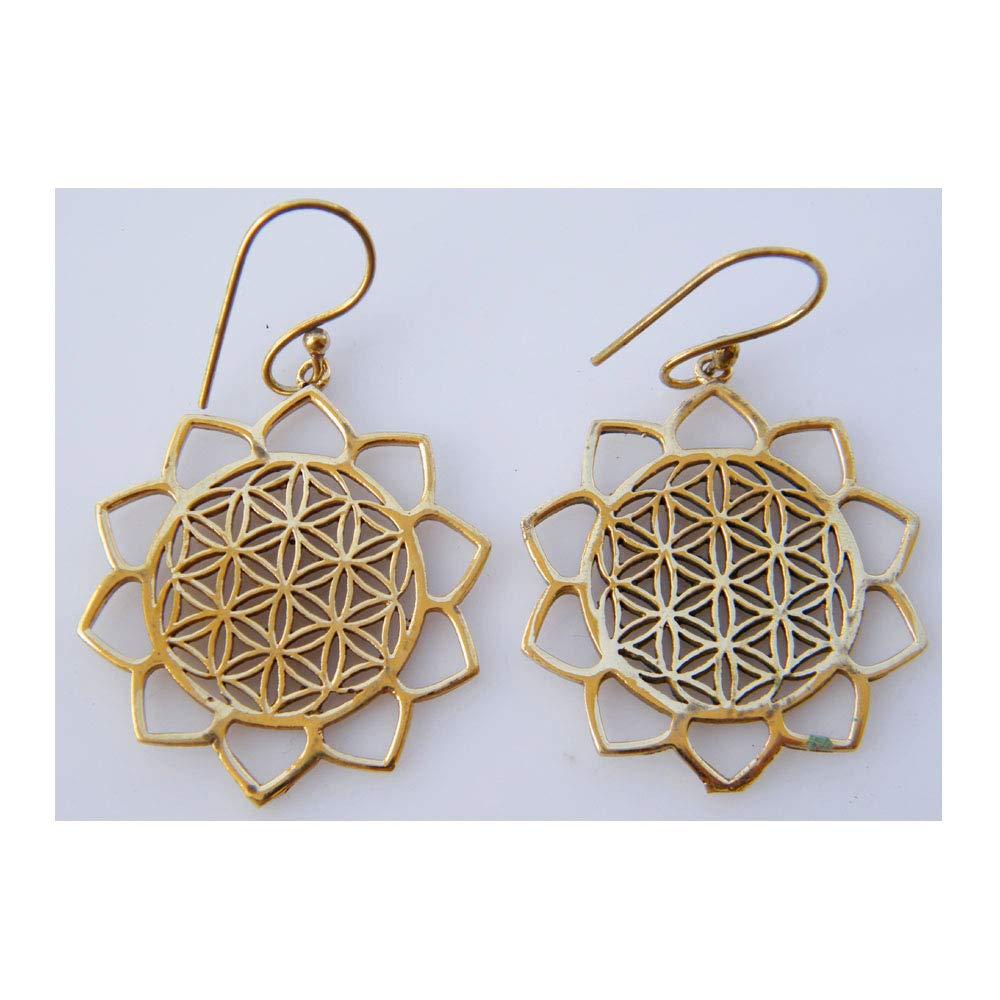 Boho Fashion Earring Tribal Earring Surbhi Crafts Fancy Earring Dangle Earring Gold Tone Brass Earring AH-10362