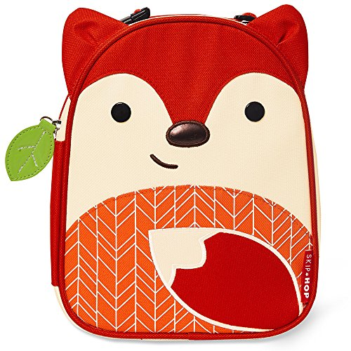 Skip Hop Zoo Kids Insulated Lunch Box, Ferguson Fox, Red