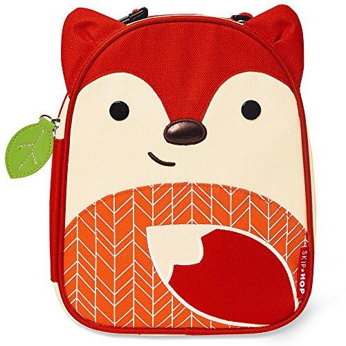 (Skip Hop Zoo Kids Insulated Lunch Box, Ferguson Fox, Red )