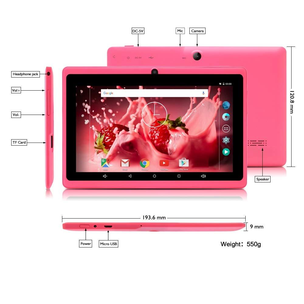 Tablet de 7 Pulgadas Google Android 8.1 Quad Core 1024x600 Cámara ...