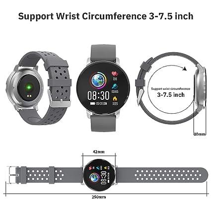 CatShin Pulsera Actividad Hombre CS04 Reloj Inteligente Mujer Niños Impermeable IP68 Reloj Deportivo con Pulsómetro Monitor de Ritmo Cardíaco ...
