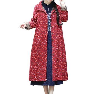 Linlink Moda Mujer Prendas de Abrigo algodón Lino Invierno cálido ...