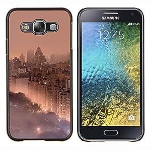 Eason Shop / Premium SLIM PC / Aliminium Casa Carcasa Funda Case Bandera Cover - Park City Ver Niebla Niebla - For Samsung Galaxy E5 E500