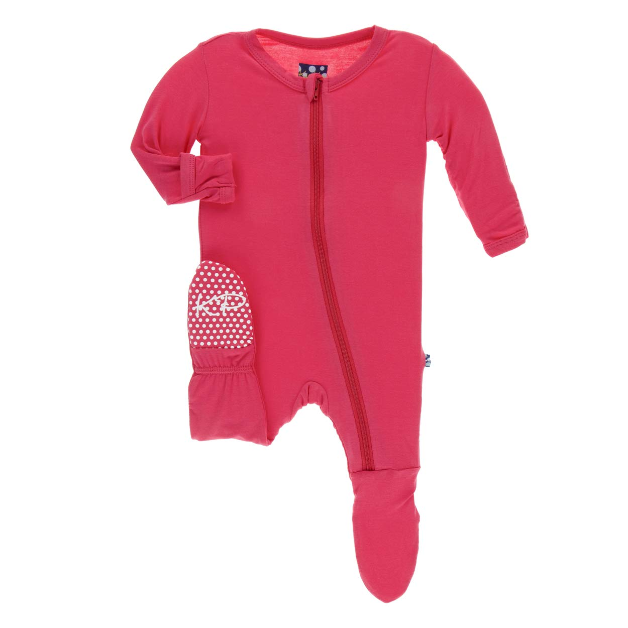 Kic Kee Pants Bamboo Footie with Zipper
