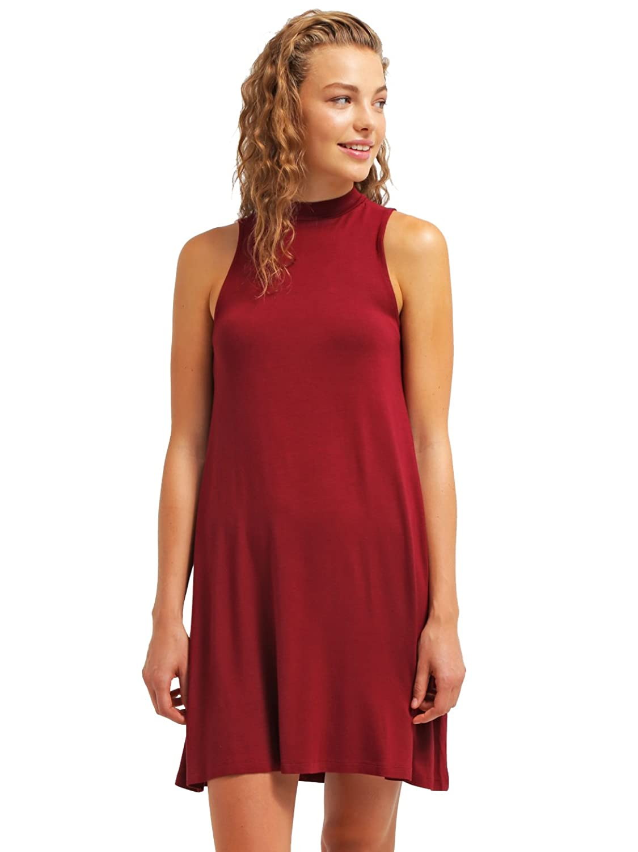 Kleid Damen knielang Rot oder Schwarz ☆ The Style Room ...
