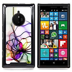 Neon Color Lines Caja protectora de pl??stico duro Dise?¡Àado King Case For Nokia Lumia 830