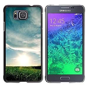 """For Samsung Galaxy Alpha G850 , S-type Naturaleza Hermosa Forrest Verde 164"""" - Arte & diseño plástico duro Fundas Cover Cubre Hard Case Cover"""