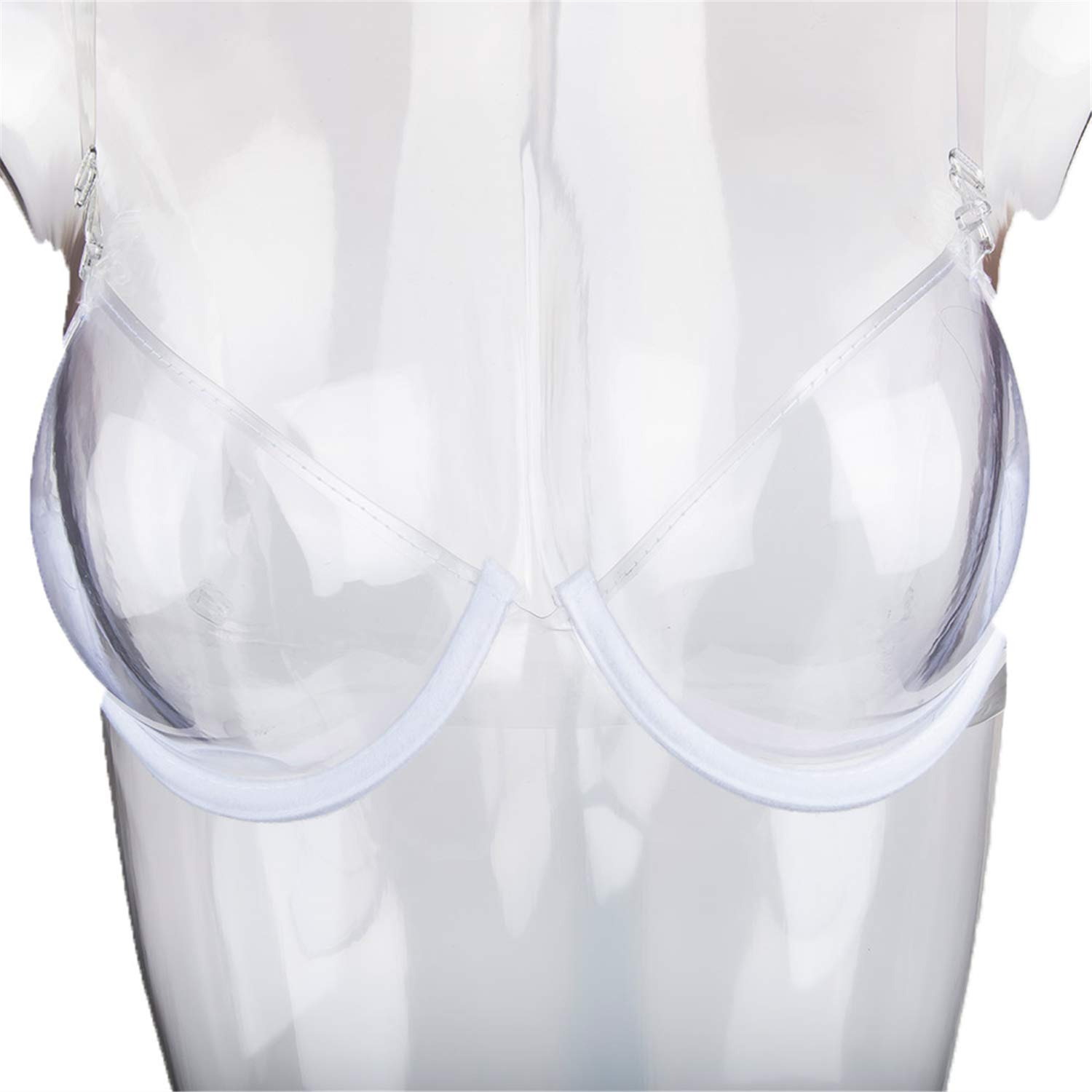 2018 Transparent Clear Push Up Bra Strap Invisible Bras Women Underwire 3//4 Cup