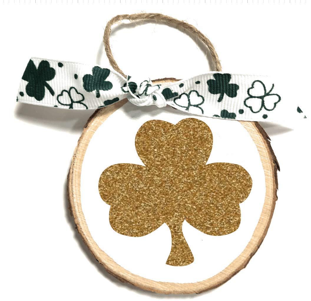 Gift Giving Patty Decorations Patricks Day Decoration Ornament St Saint Patricks Day Gift Present Tags St Glitter Shamrock Mini Round Wood Slice