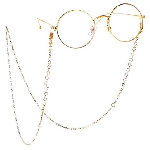 99273c183398 LUFF Anti-Skid Reading Glasses chain Glasses Strap retro metal chain sunglasses  glasses holder (