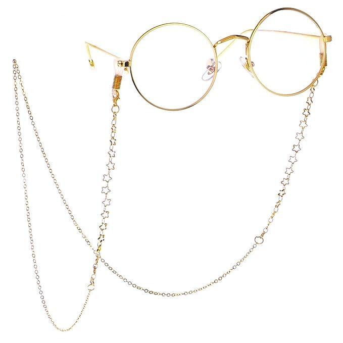 Gafas retro de lectura con cadena. Opción de colores.