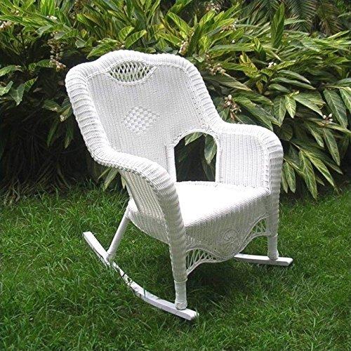 (International Caravan 3195-AM-IC Furniture Piece Resin Wicker Indoor/Outdoor Rocker)