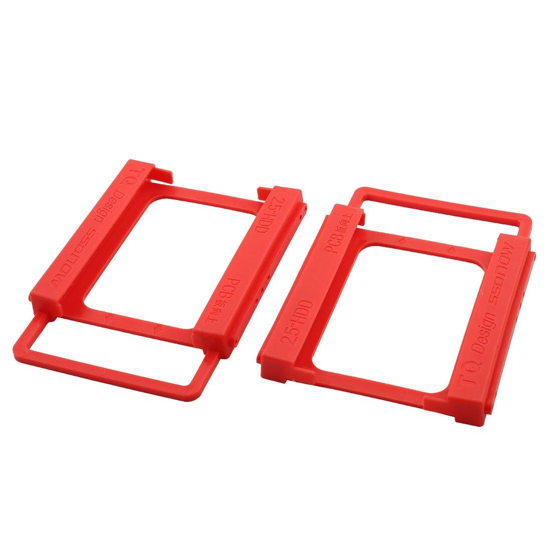 Amazon.com: eDealMax plástico sin tornillos Instalación del ordenador portátil DE 2,5 pulgadas a 3,5 pulgadas Disco Duro SSD adaptador de soporte de Disco ...