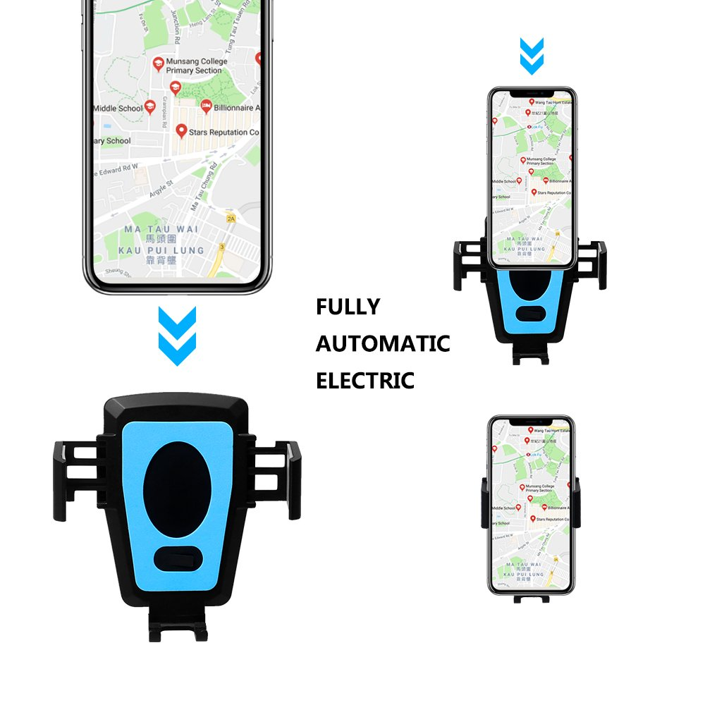 StillCool Air Vent Car Mount Cradle Cell Phone Support Holder with 360/° Rotation Automatic Intelligent Clamping for iPhone x//iPhone 8//7//7 Plus//6S//6 Plus 5S SE Samsung Electric Car Phone Holder