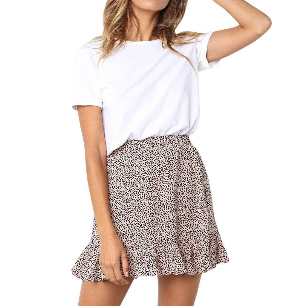 fd8551ee8f Dami-shop Summer Casual Print Ruffles Empire Mini Skirts Women Retro High  Waist Evening Party Short Knee Skirt Trendyol Beige at Amazon Women's  Clothing ...