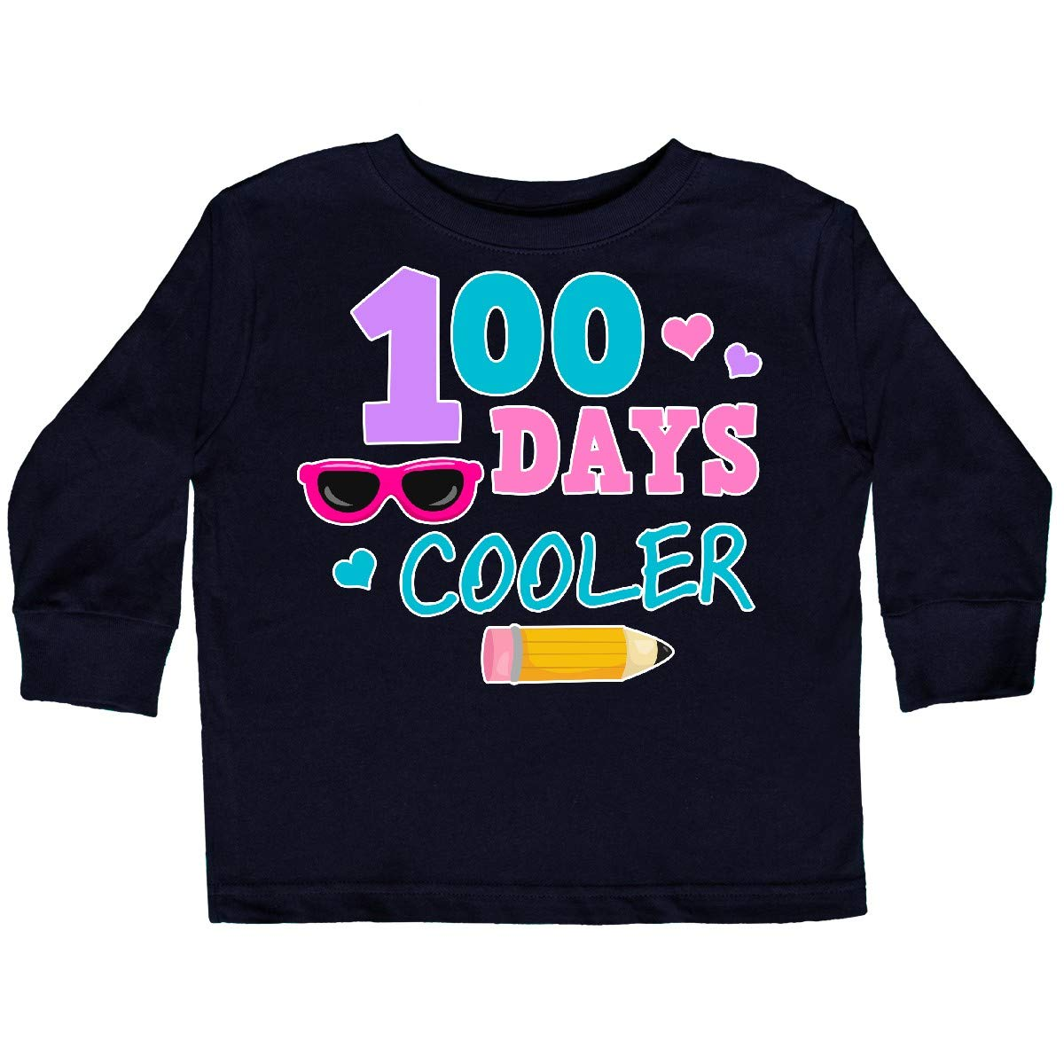 inktastic 100 Days Cooler in Pink Toddler Long Sleeve T-Shirt