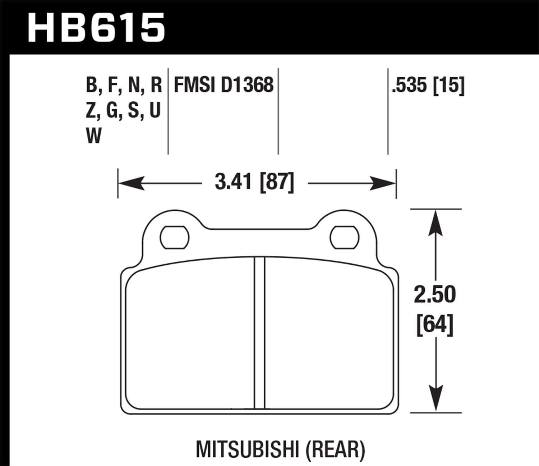 Hawk Performance HB502Z.606 Performance Ceramic Brake Pad