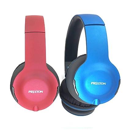 Auriculares de Diadema Bluetooth Inalámbricos Prixton AB202 (Rojo)
