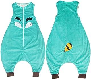1 Set Infant maniche Vest flanella Leg Sacco a pelo appena nato che dorme sacchetto del fumetto Design Animali Sacco a pelo (arancione) JohnJohnsen